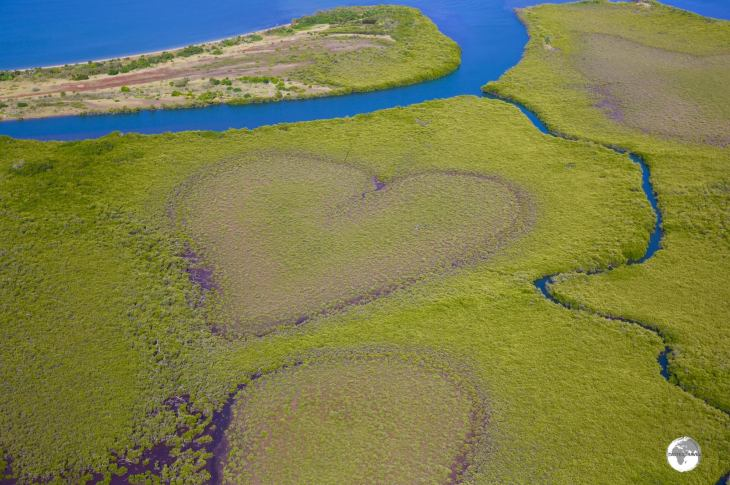 The Heart Of Voh Is A Naturally Occuring Shaped Bog Inside