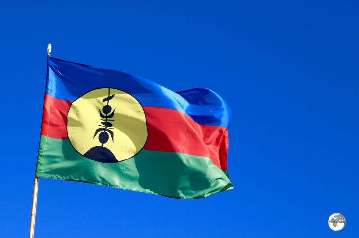 The Kanak flag has flown alongside the French flag since 2010.