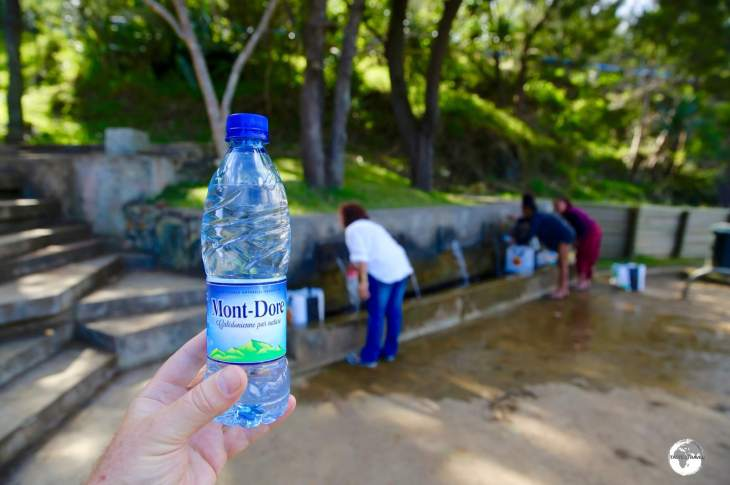 Visitors to Mont Dore are able to fill their bottles with free mineral water direct from the source.