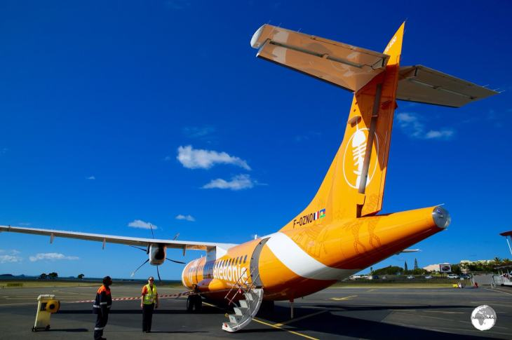 My Air Caledonie flight from Noumea to the Isle of Pines.