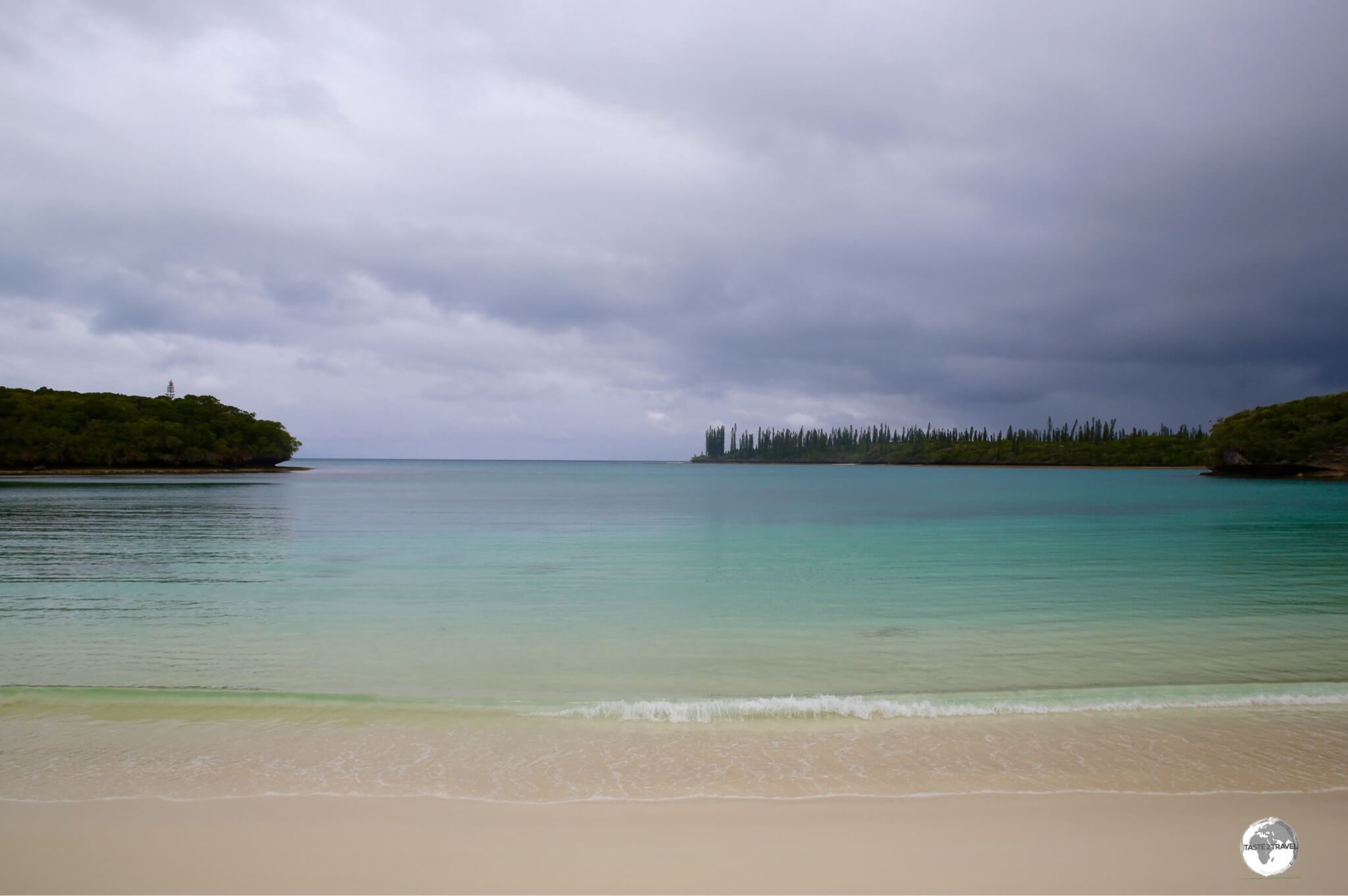 The beautiful Kanumera Bay on the Isle of Pines.