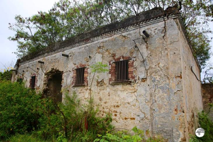 An abandoned penal cell block in the village of Ouro on the west coast of the Isle of Pines.