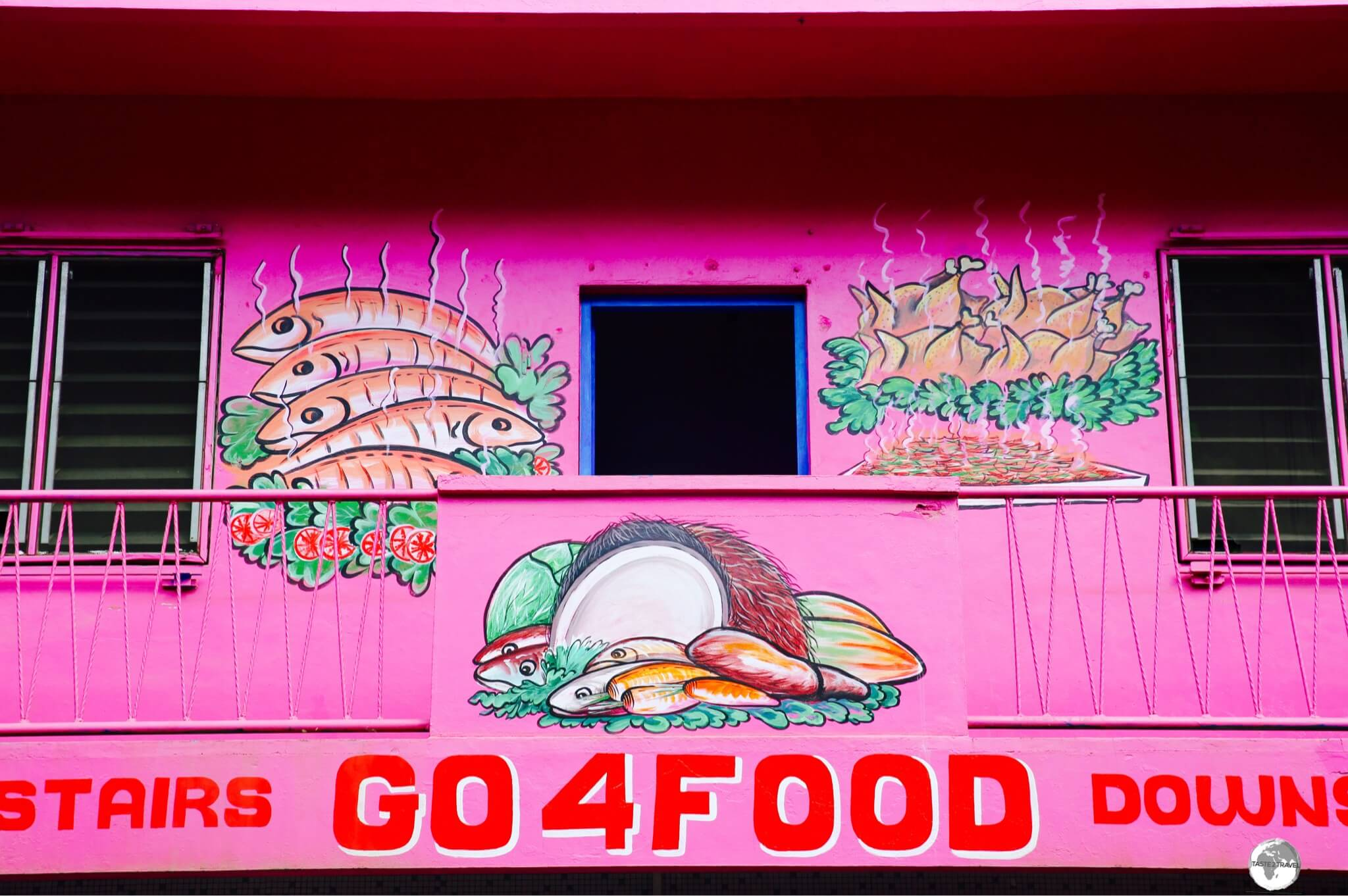 A colourful restaurant in downtown Port Vila.