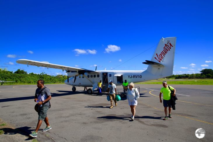 Arriving on Tanna Island with Air Vanuatu.