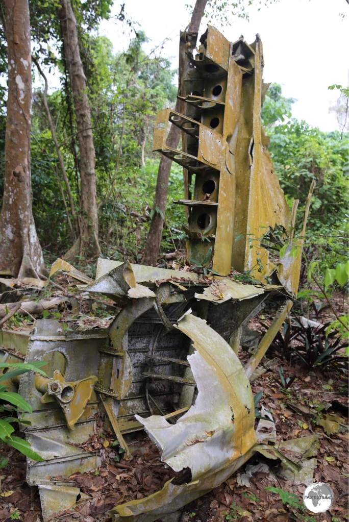 Located in the middle of the jungle, this wreck of a B-17 bomber can only be found with a knowledgeable guide.