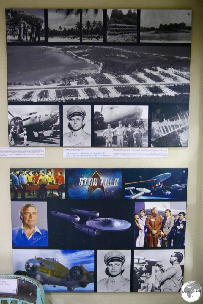 The 'Gene Roddenberry' display at the South Pacific War museum in Luganville.