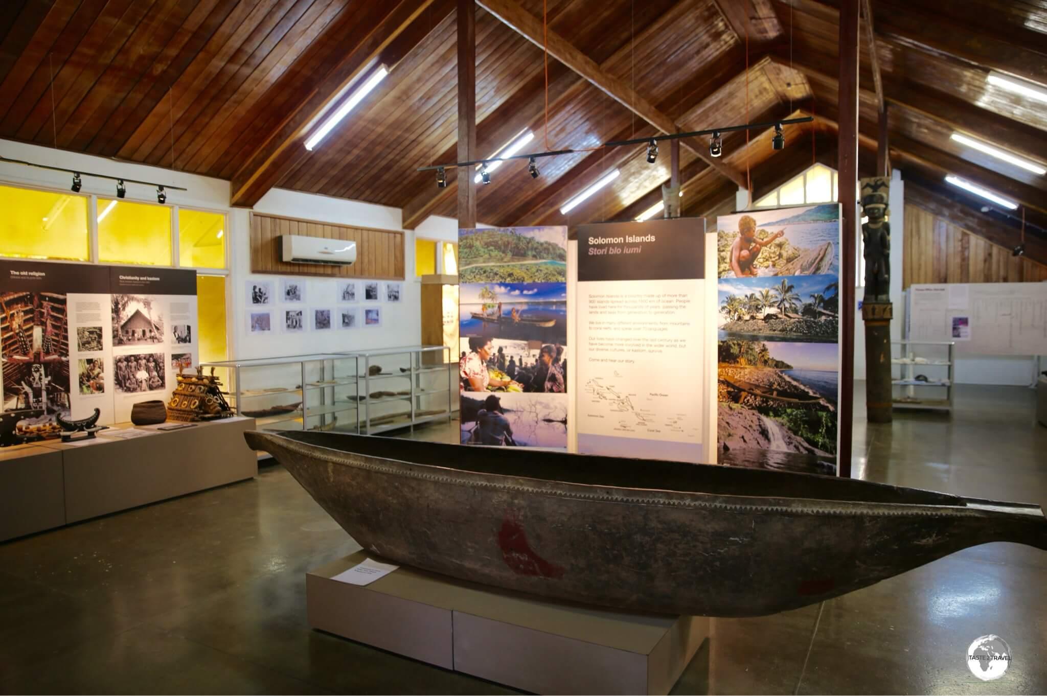 Displays at the Solomon Islands National Museum in Honiara.
