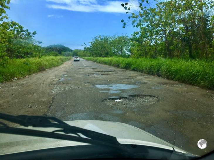 Roads on Guadalcanal are heavily pot-holed and best suited to high clearance vehicles.