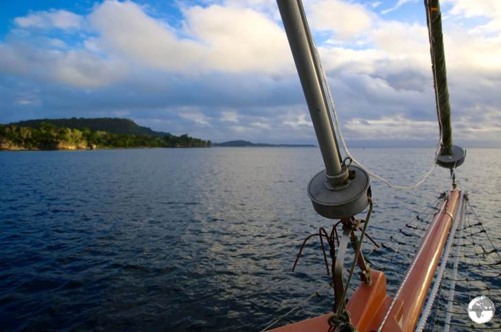 A wonderful way to spend an evening on Port Vila harbour is on a sunset cruise with Captain George.
