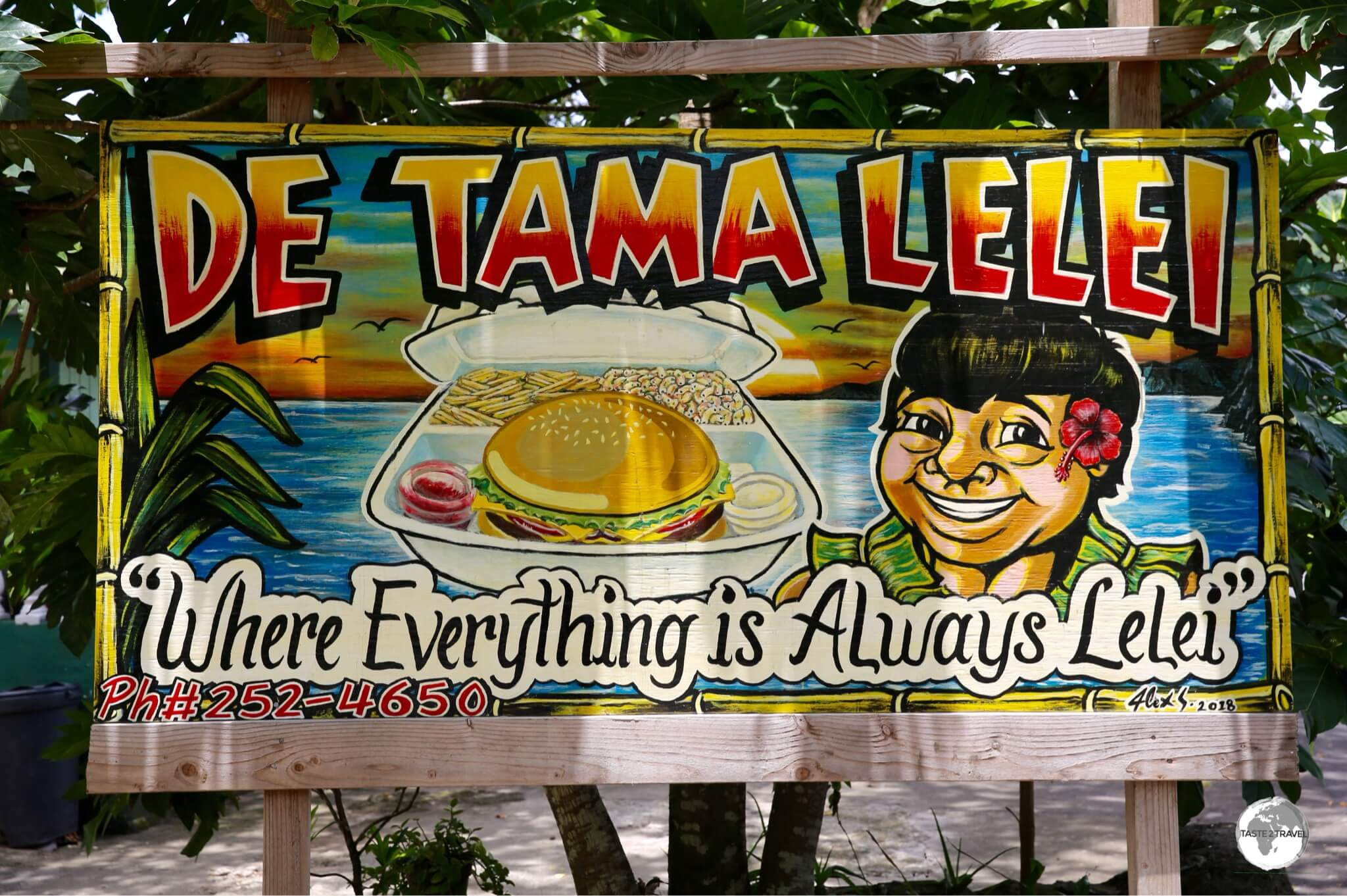 Restaurant advertisement on Tutuila.