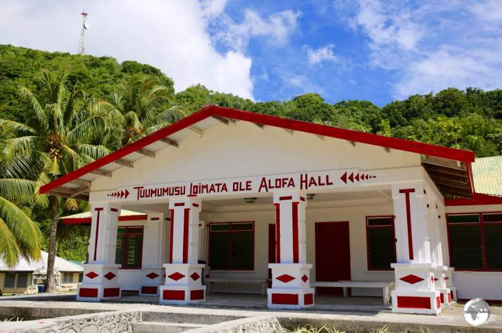 A meeting house in Faleasao village on Ta'u island.