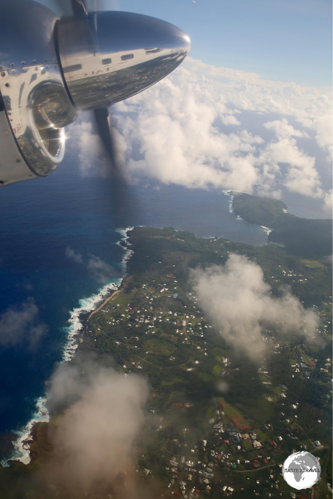 Flying out of American Samoa (from today) to Samoa (and into tomorrow).