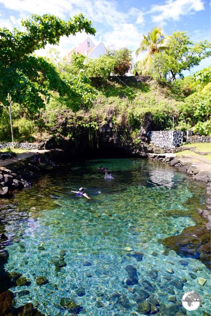 Piula Cave Pool.