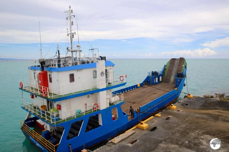 The smaller ferry which connects Upolu and Savai'i Islands.