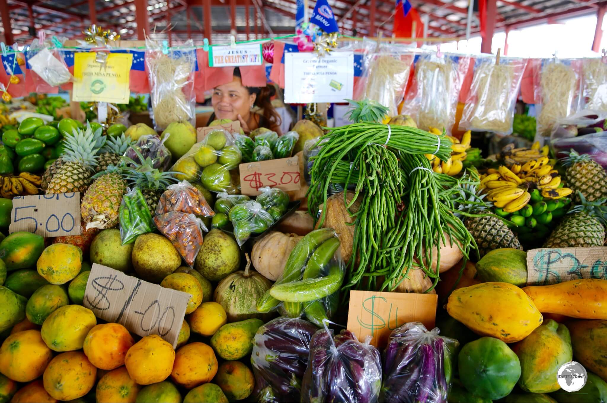 There's no shortage of good produce in Samoa.