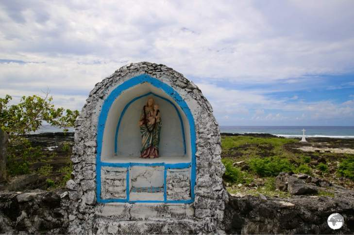The former interior of Falealupo Catholic Church.
