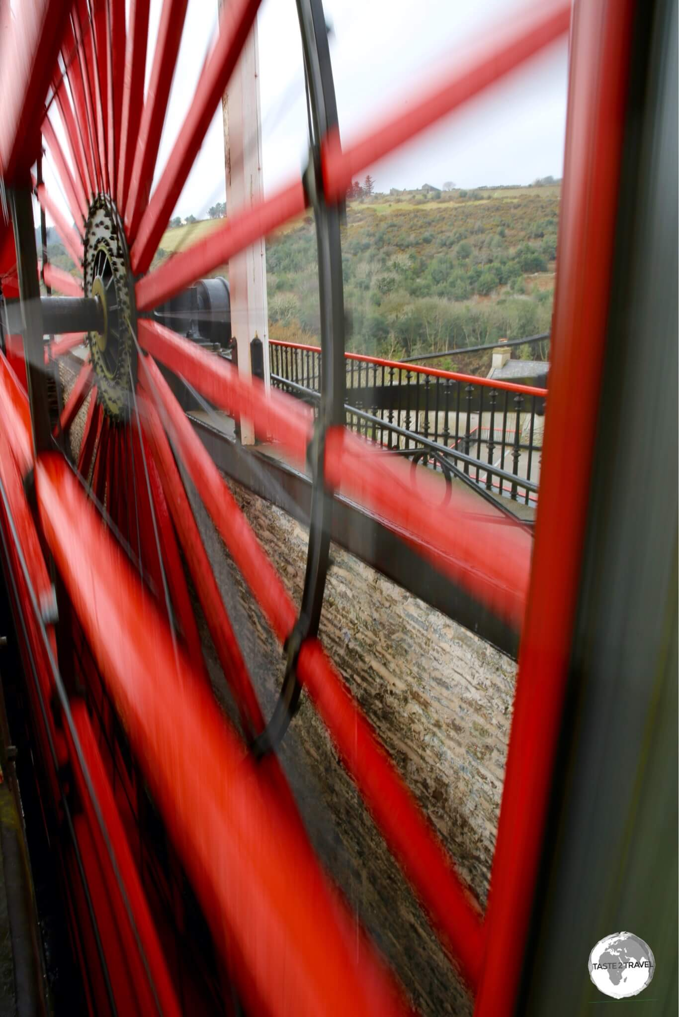 Getting close to the Laxey wheel.