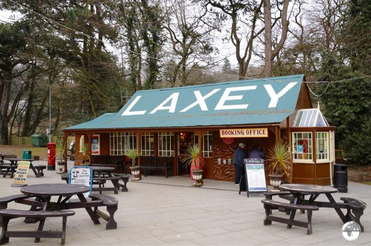 Laxey Railway station is the terminus for the Snaefell Mountain Railway and a key stop for the Manx Electric Railway.