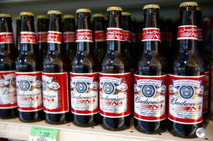 Non-Alcoholic beers from famous brands such as Budweiser can be purchased in local supermarkets.