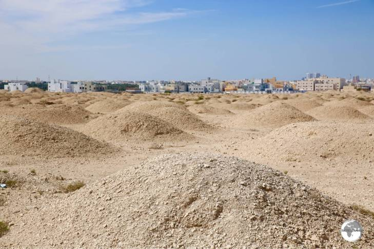 An ancient burial ground – hundreds of Dilmun-era burial mounds line the highway south of Manama.