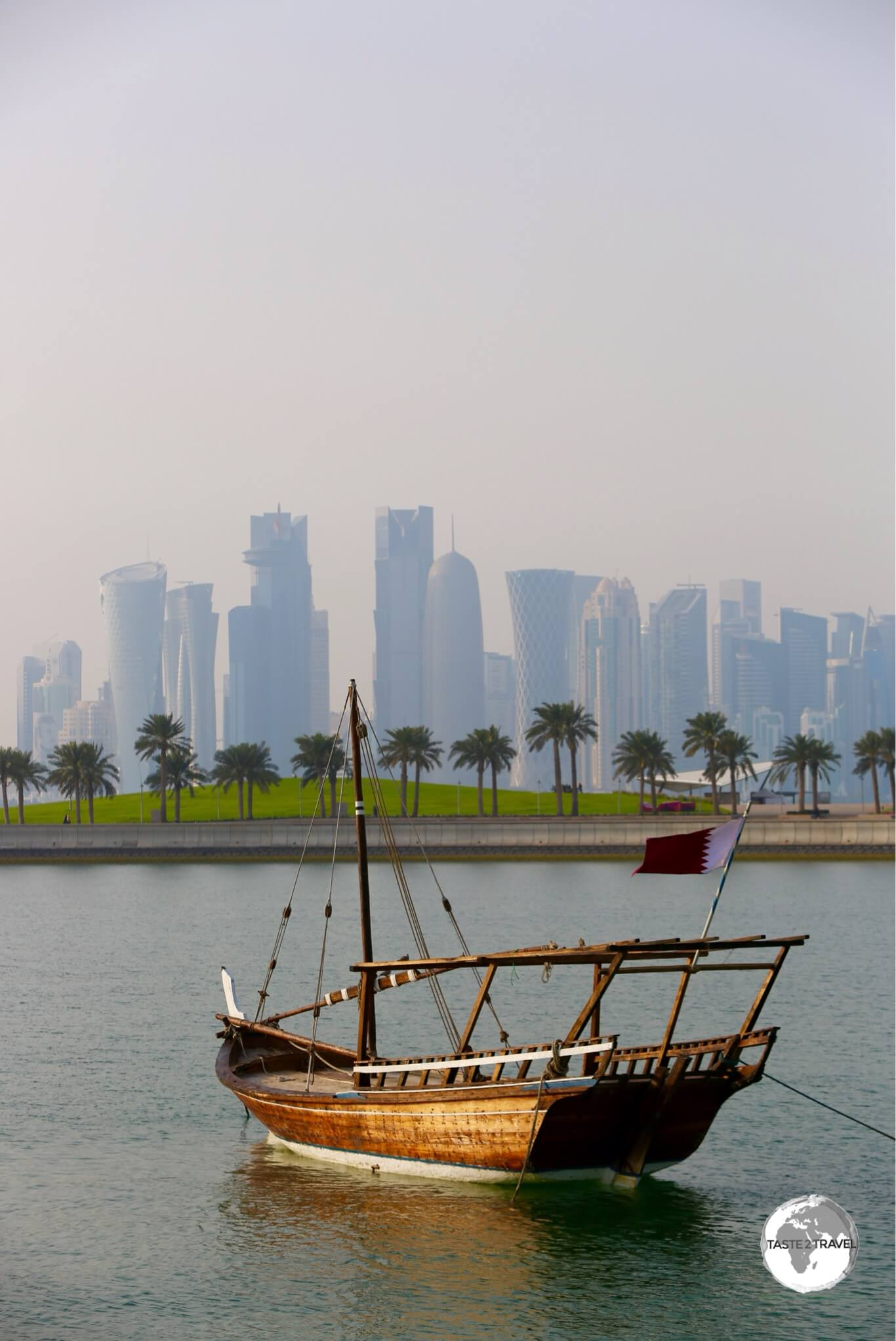 A traditional Dhow in Doha harbour.