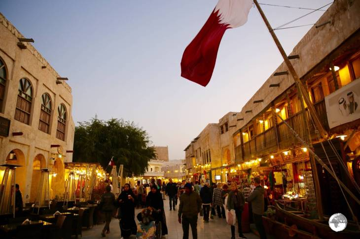 The bustling alleyways of Soul Waqif, which offers a large array of dining options.