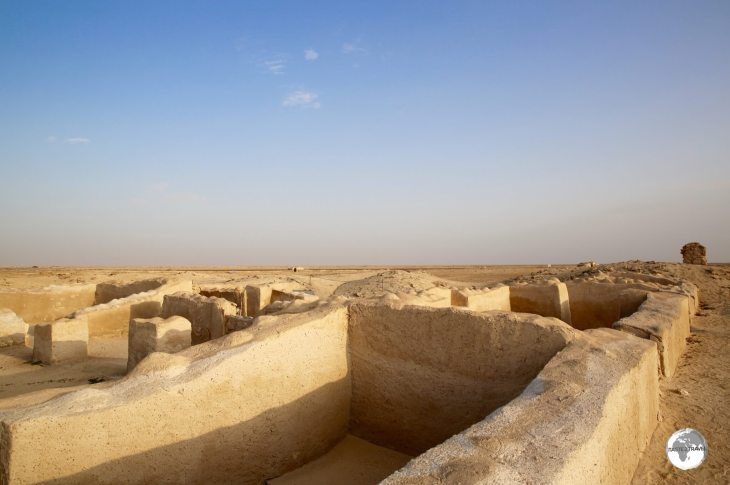 Excavated houses in ancient Zubarah.