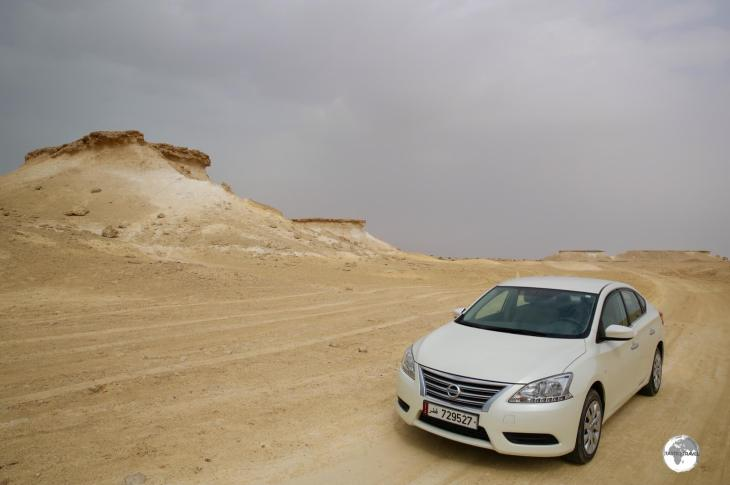 Off-roading in my rental car near Zakreet.