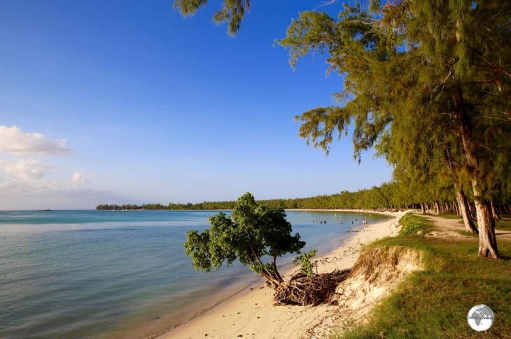 Lined with Casuarinas trees, Mont Choisy is the longest beach in the north of Mauritius.