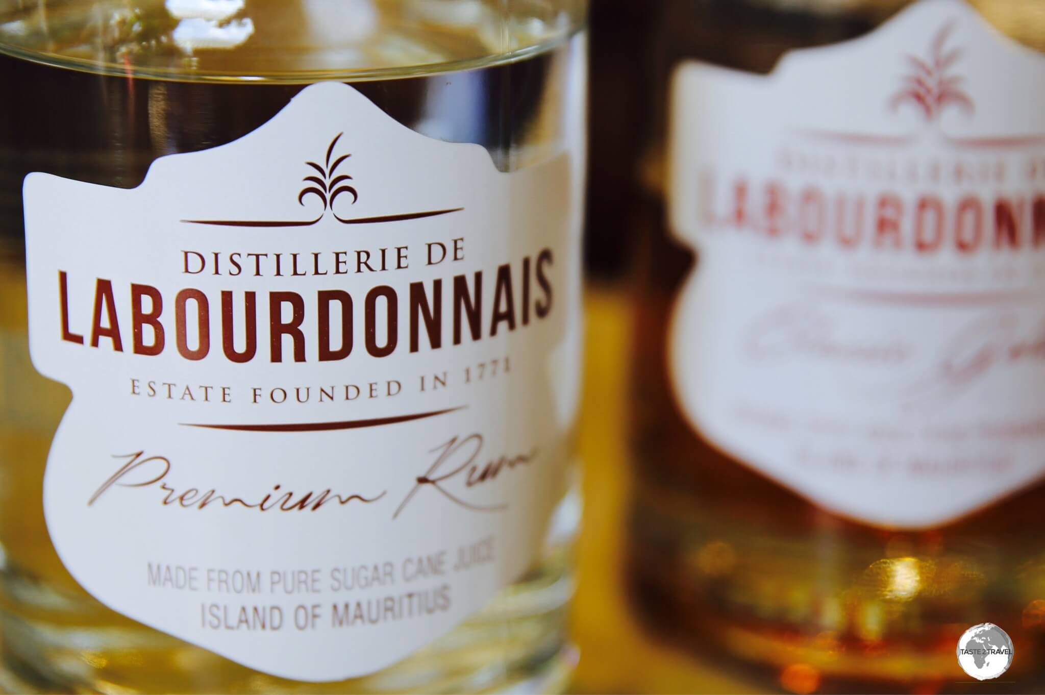 The Labourdonnais distillery produces both dark and white rums.