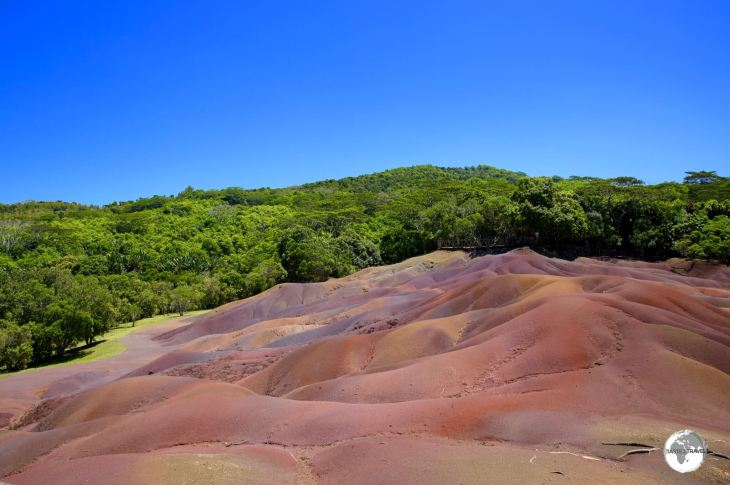 One of the highlights of Mauritius - 'Seven Coloured Earth' in Charmarel.