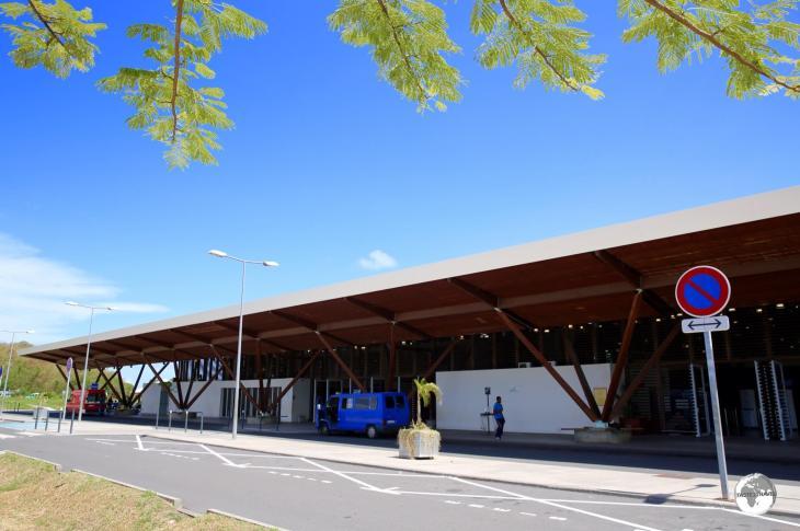 The modern terminal at Dzaoudzi–Pamandzi International Airport.
