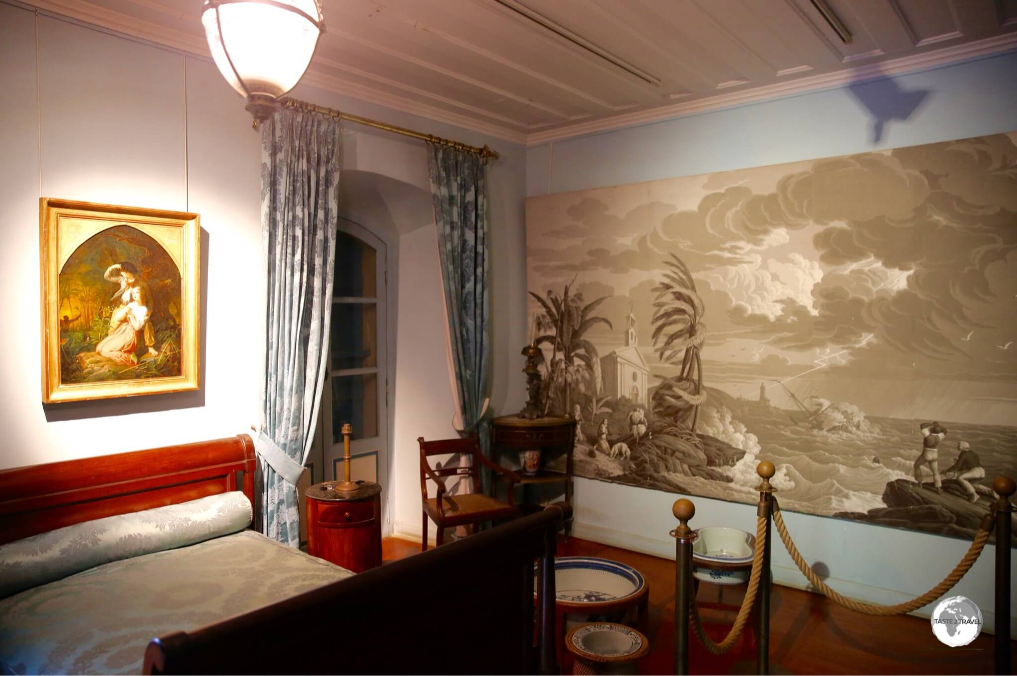 The sumptuous interiors of the mansion provide visitors with an insight into life on the island during the colonial era.