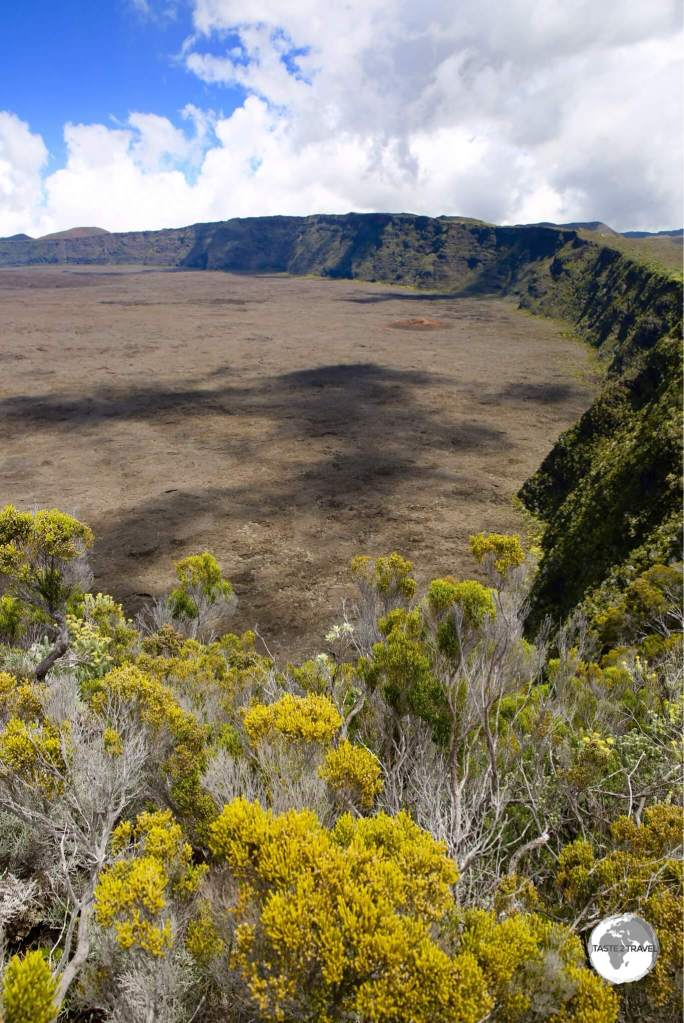 The giant enclosure of Piton de la Fournaise provides hours of hiking possibilities with stunning views in all directions.