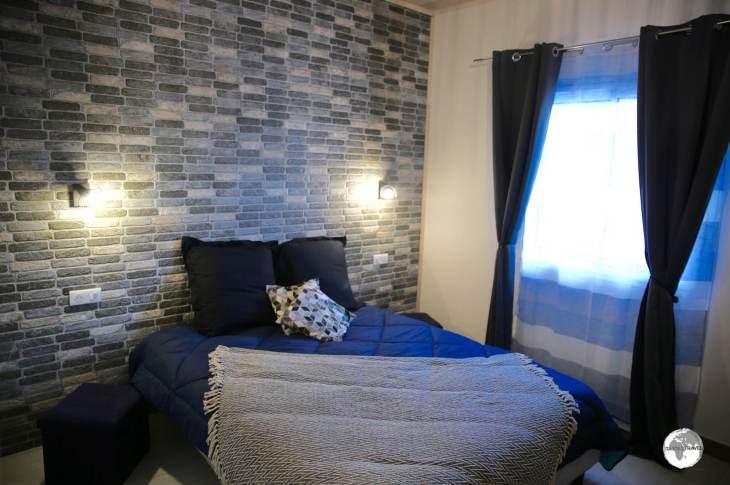 My room at the newly built <i>Ô Cœur de l'île</i> guest house in the quiet village of Grand Ilet in the Cirque de Salazie.