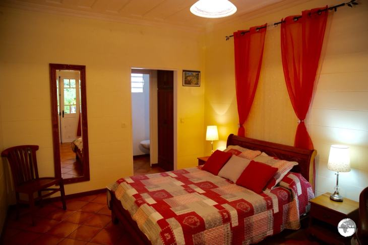 My room at <i>Le Relais Des Gouverneurs</i> in Hell-Bourg, the main centre in the Cirque de Salazie.