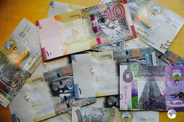 Known as the strongest currency in the world, one Kuwaiti Dinar is worth a little more than US$3.
