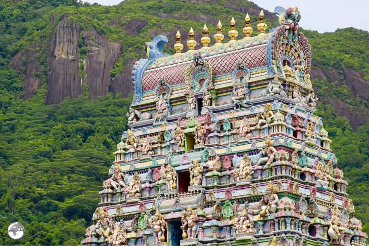 Dedicated to Ganesh, the Sri Navasakthi Vinayagar Temple is the only Hindu temple in the Seychelles.
