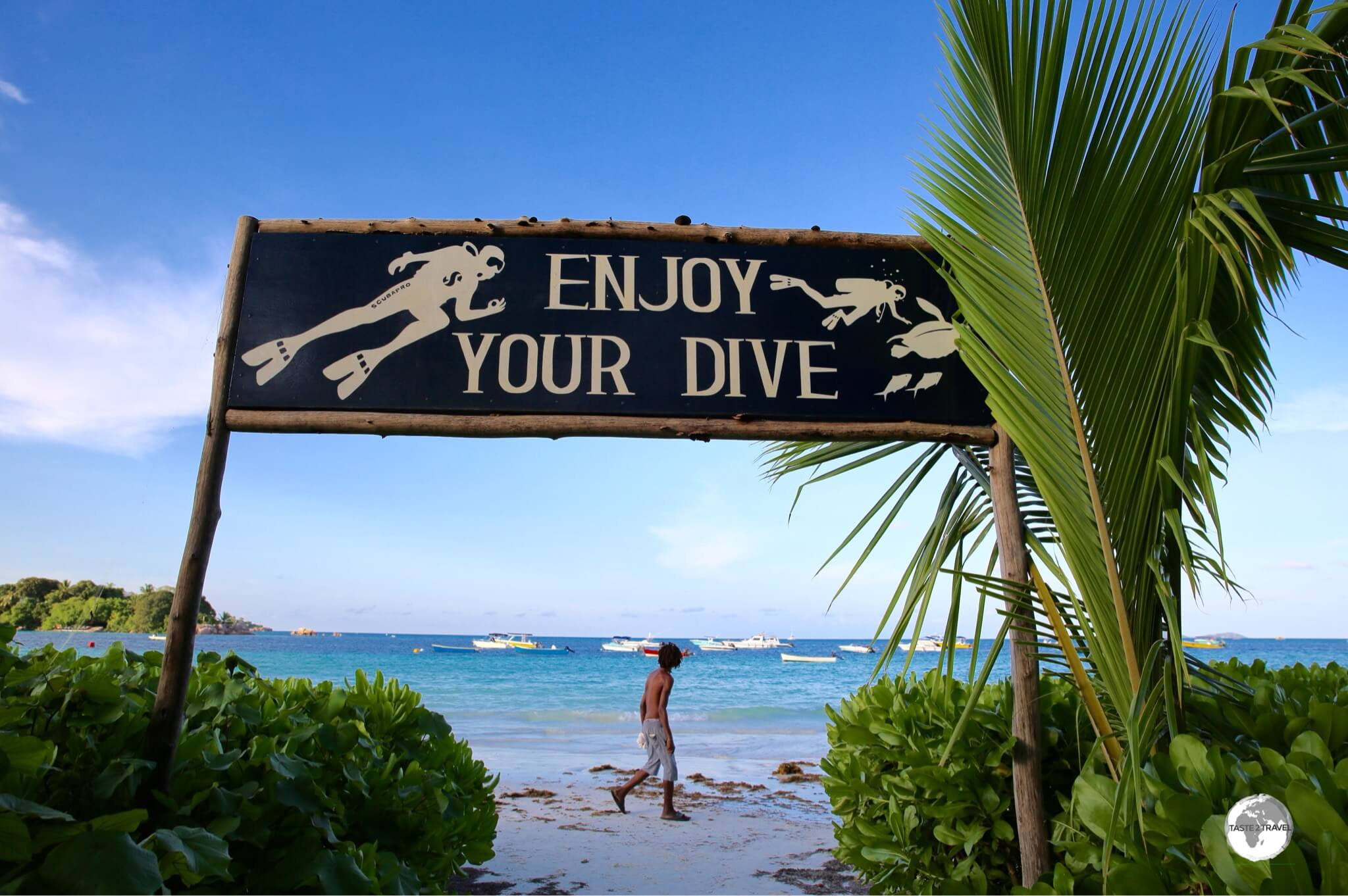 Some final advice from the owners of Octopus Diver prior to boarding the dive boat.