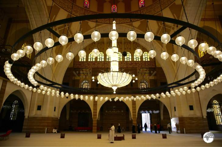 The Al Fatih mosque is the largest place of worship in Bahrain.