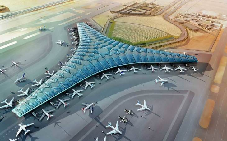 An artist rendering of the new Terminal 2.