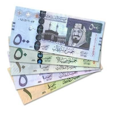 The Saudi Riyal is worth 1/10th of the Bahrain Dinar.