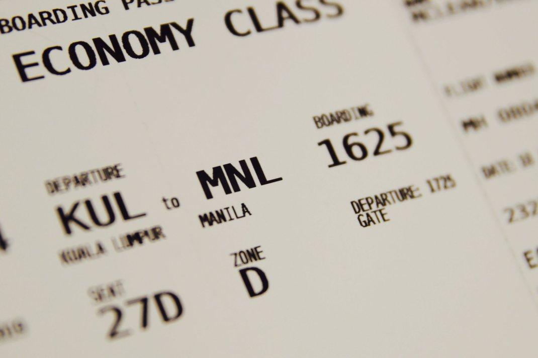Flight Ticket Image.
