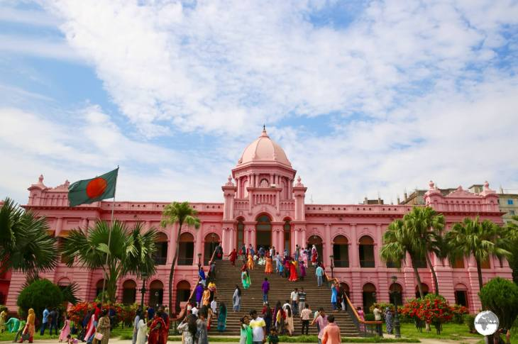 One of the jewels of Dhaka, the Pink Palace (Ahsan Manzil) museum.