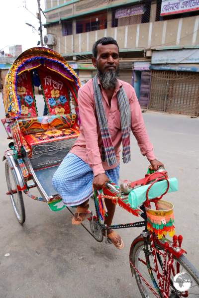 Cycle rickshaws are a great way to cover small distances in Dhaka.