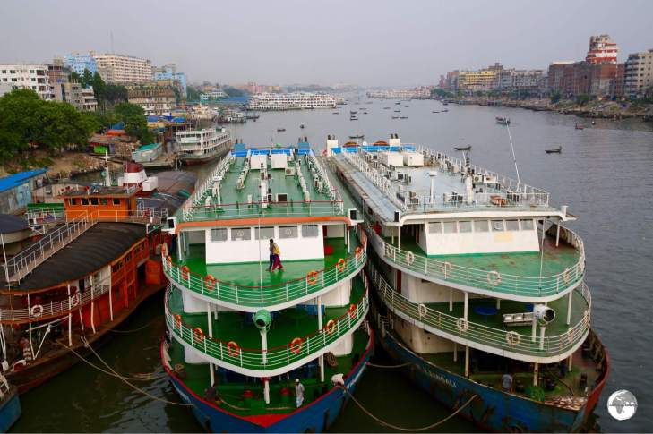 The Saderghat Boat terminal is the busiest in Bangladesh.