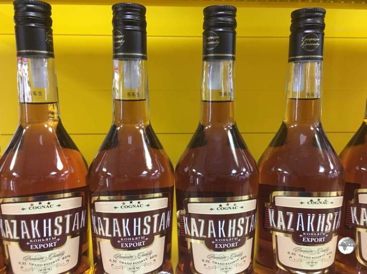 Kazakhstan Cognac sells for just a few dollars a bottle in most supermarkets.