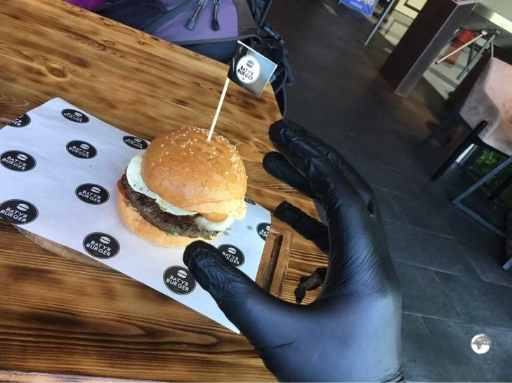 Burgers in Kazakhstan are always served with a pair of latex gloves – to keep your hands clean.