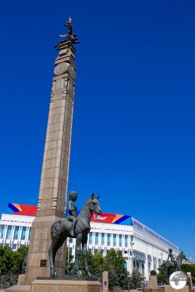 Republic Square is the main square in Almaty.
