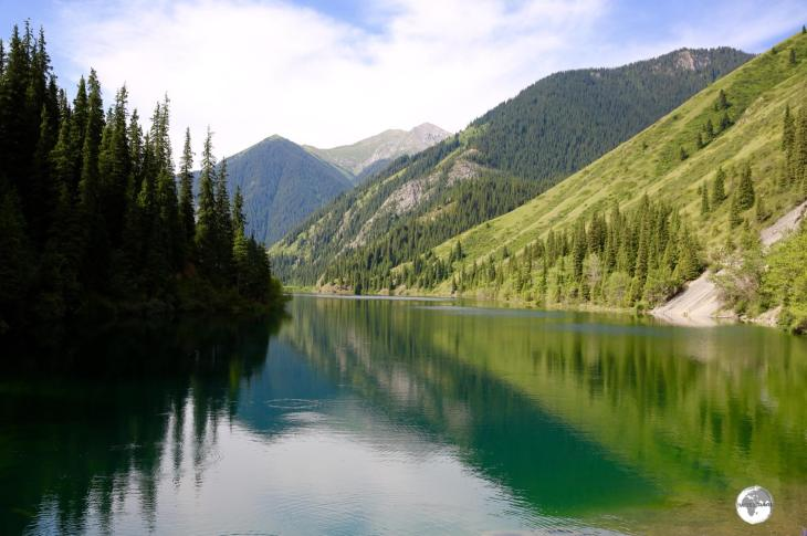 There are three lakes in the Kolsai Lakes National Park, this is the first and lowest of the three.